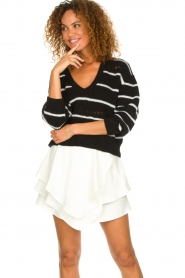 IRO |  Striped sweater Clymer | black & white  | Picture 2