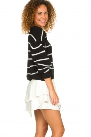 IRO |  Striped sweater Clymer | black & white  | Picture 4
