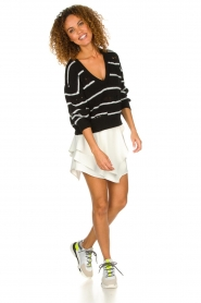 IRO |  Striped sweater Clymer | black & white  | Picture 3