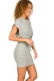 IRO |  Dress with drapings Wynot | grey  | Picture 5