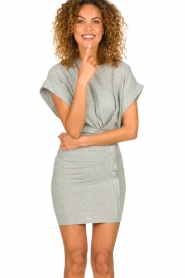 IRO |  Dress with drapings Wynot | grey  | Picture 4