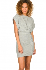 IRO |  Dress with drapings Wynot | grey  | Picture 2