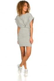 IRO |  Dress with drapings Wynot | grey  | Picture 3
