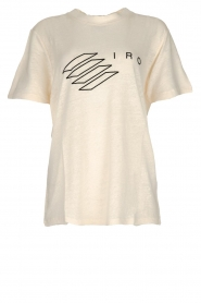 IRO |  T-shirt with logo print Lucie | natural  | Picture 1