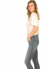 IRO |  T-shirt with logo print Lucie | natural  | Picture 4