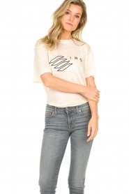 IRO |  T-shirt with logo print Lucie | natural  | Picture 3