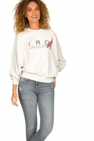 IRO |  Sweater with logo print Bigbo | natural  | Picture 2