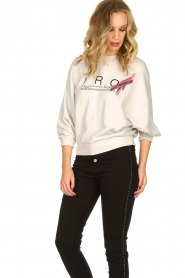 IRO |  Sweater with logo print Bigbo | natural  | Picture 4