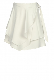 IRO |  Layered wrap skirt Capred | white  | Picture 1