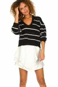 IRO |  Layered wrap skirt Capred | white  | Picture 2