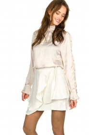 IRO |  Layered wrap skirt Capred | white  | Picture 3