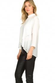 Kocca |  Asymmetric blouse Dominga  | white  | Picture 4