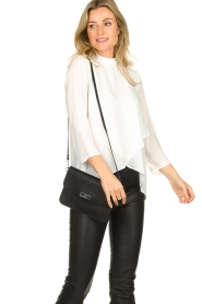 Kocca |  Asymmetric blouse Dominga  | white  | Picture 6