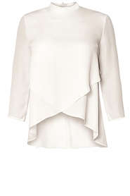 Kocca |  Asymmetric blouse Dominga  | white  | Picture 1