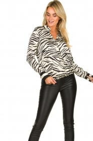 Kocca |  Zebraprint blouse Parsyf | animal print  | Picture 6