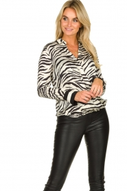 Kocca |  Zebraprint blouse Parsyf | animal print  | Picture 4
