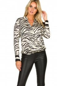 Kocca |  Zebraprint blouse Parsyf | animal print  | Picture 2