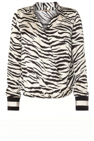 Kocca |  Zebraprint blouse Parsyf | animal print  | Picture 1