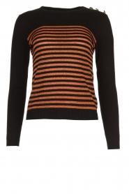 Kocca |  Striped glitter sweater Luk | camel  | Picture 1
