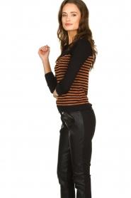 Kocca |  Striped glitter sweater Luk | camel  | Picture 5