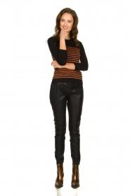 Kocca |  Striped glitter sweater Luk | camel  | Picture 3