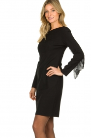 Kocca | Dress with fringes Kun | black  | Picture 4