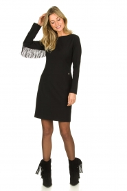 Kocca | Dress with fringes Kun | black  | Picture 3