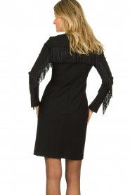 Kocca | Dress with fringes Kun | black  | Picture 5