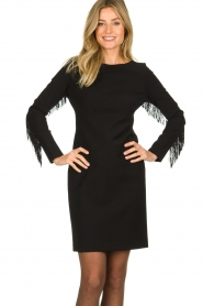 Kocca | Dress with fringes Kun | black  | Picture 2