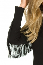 Kocca | Dress with fringes Kun | black  | Picture 6