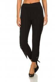 Kocca |  Fringe pants Label | black  | Picture 2