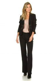 Kocca :  Trousers with shimmering stripes Cland | black - img3