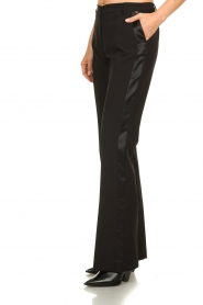 Kocca :  Trousers with shimmering stripes Cland | black - img2