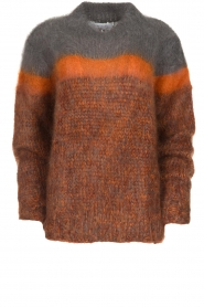 Les tricots d'o | Woolen sweater Block | brown  | Picture 1