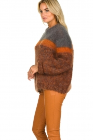 Les tricots d'o | Woolen sweater Block | brown  | Picture 5