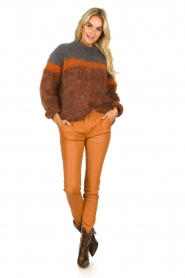 Les tricots d'o | Woolen sweater Block | brown  | Picture 3