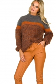 Les tricots d'o | Woolen sweater Block | brown  | Picture 2