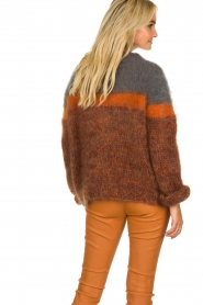 Les tricots d'o | Woolen sweater Block | brown  | Picture 6