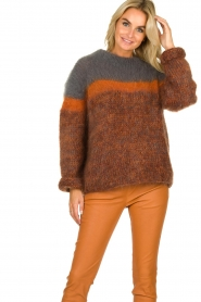 Les tricots d'o | Woolen sweater Block | brown  | Picture 4