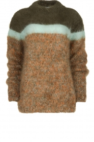 Les tricots d'o | Woolen sweater Block | green  | Picture 1