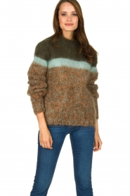 Les tricots d'o | Woolen sweater Block | green  | Picture 2