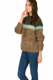 Les tricots d'o | Woolen sweater Block | green  | Picture 4