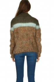Les tricots d'o | Woolen sweater Block | green  | Picture 5