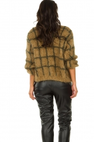 Les tricots d'o | Woolen cardigan Fine Line | brown  | Picture 5