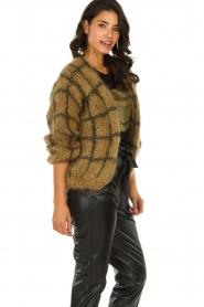 Les tricots d'o | Woolen cardigan Fine Line | brown  | Picture 4