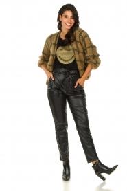 Les tricots d'o | Woolen cardigan Fine Line | brown  | Picture 3