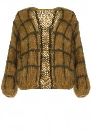 Les tricots d'o | Woolen cardigan Fine Line | brown  | Picture 1