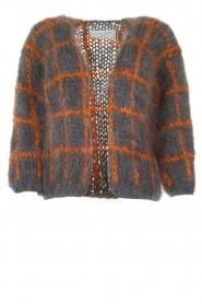 Les tricots d'o |  Woolen cardigan Fine Line | grey  | Picture 1