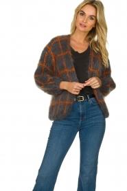 Les tricots d'o |  Woolen cardigan Fine Line | grey  | Picture 4
