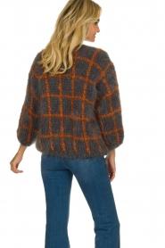 Les tricots d'o |  Woolen cardigan Fine Line | grey  | Picture 6
